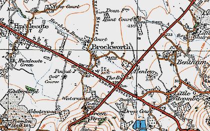 Old map of Brockworth in 1919