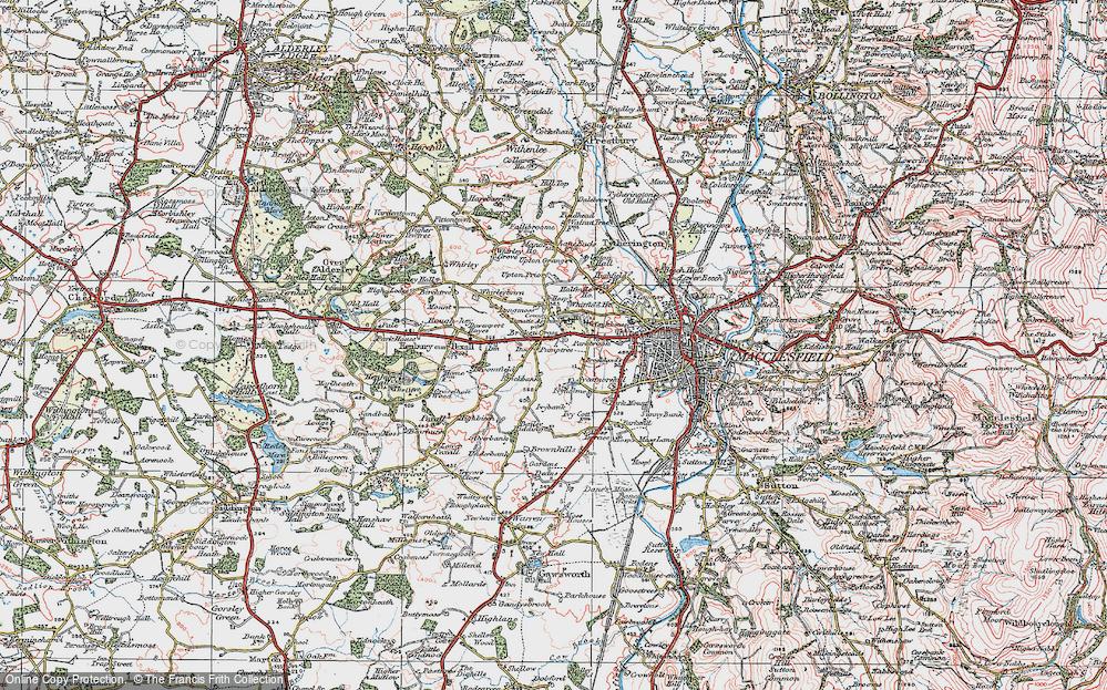 Old Map of Broken Cross, 1923 in 1923