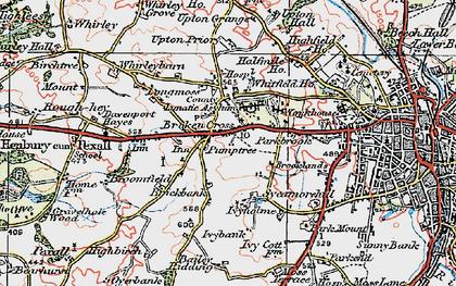 Old map of Broken Cross in 1923