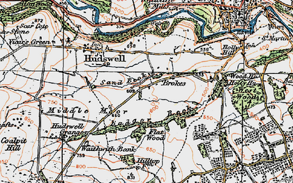 Old map of Badger Beck in 1925
