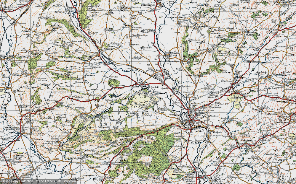 Old Map of Bromfield, 1920 in 1920