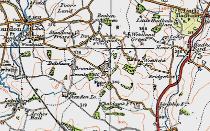 Old map of Balsams in 1919
