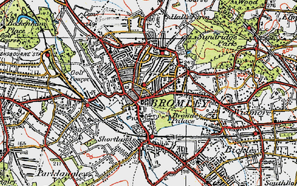 Old map of Bromley in 1920