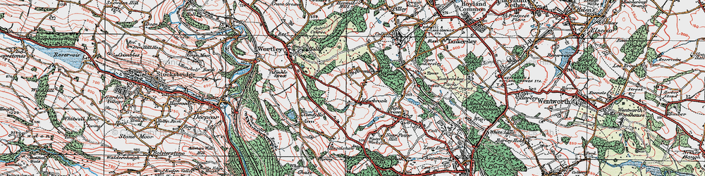 Old map of Bromley in 1924