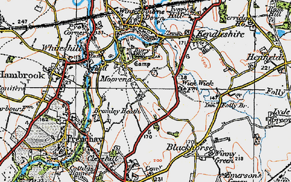 Old map of Bromley Heath in 1919