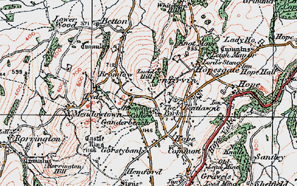 Old map of Whitsburn Hill in 1921