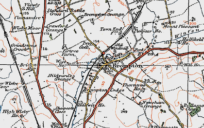 Old map of Brompton in 1925