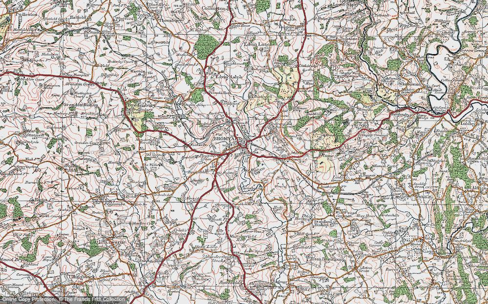 Old Map of Bromyard, 1920 in 1920