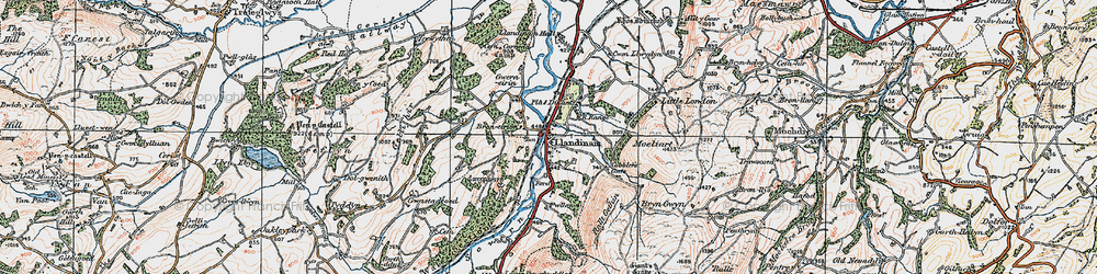 Old map of Allt y Moch in 1921