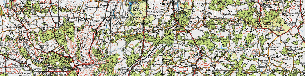 Old map of Witley Sta in 1920