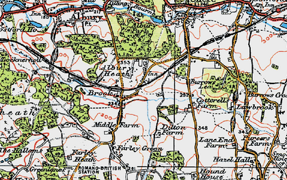 Old map of Brook in 1920
