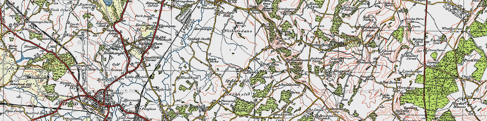 Old map of Brook in 1921
