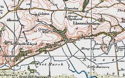 Old map of Windleway in 1922