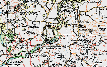 Old map of Banister Hey in 1924