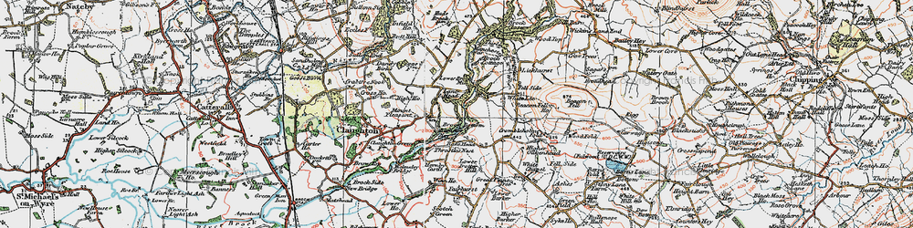 Old map of White Lee in 1924