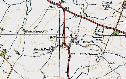 Old map of Tilbrook Grange in 1919