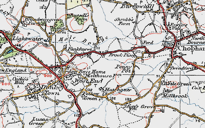 Old map of Brook Place in 1920
