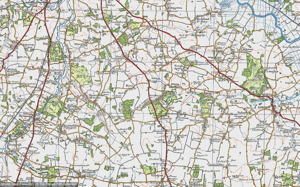 Old Map of Brooke, 1922 in 1922