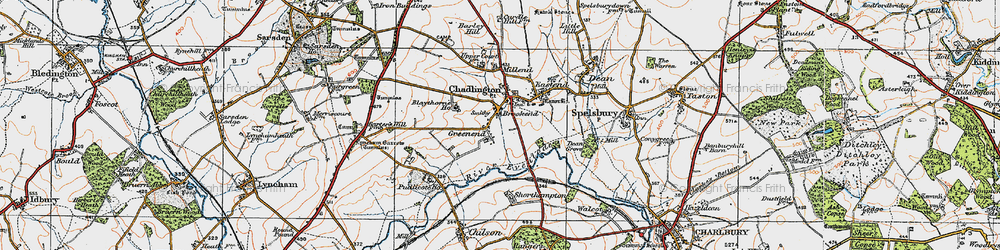 Old map of Brookend in 1919
