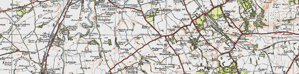 Old map of Brookfield in 1925