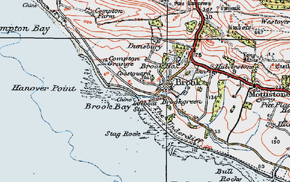 Old map of Hanover Point in 1919