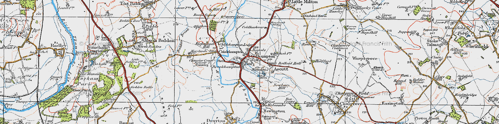 Old map of Brookhampton in 1919
