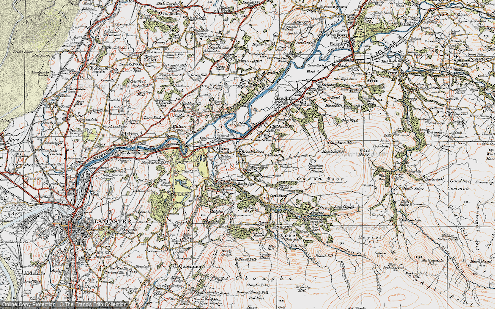 Old Map of Historic Map covering Artle Beck in 1924