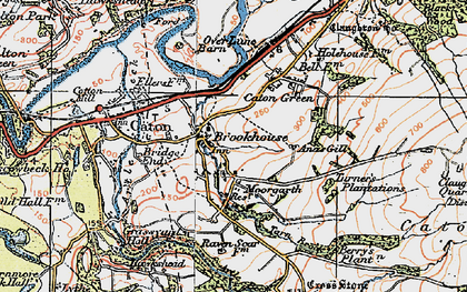 Old map of Brookhouse in 1924