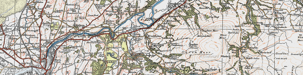 Old map of Annas Ghyll in 1924