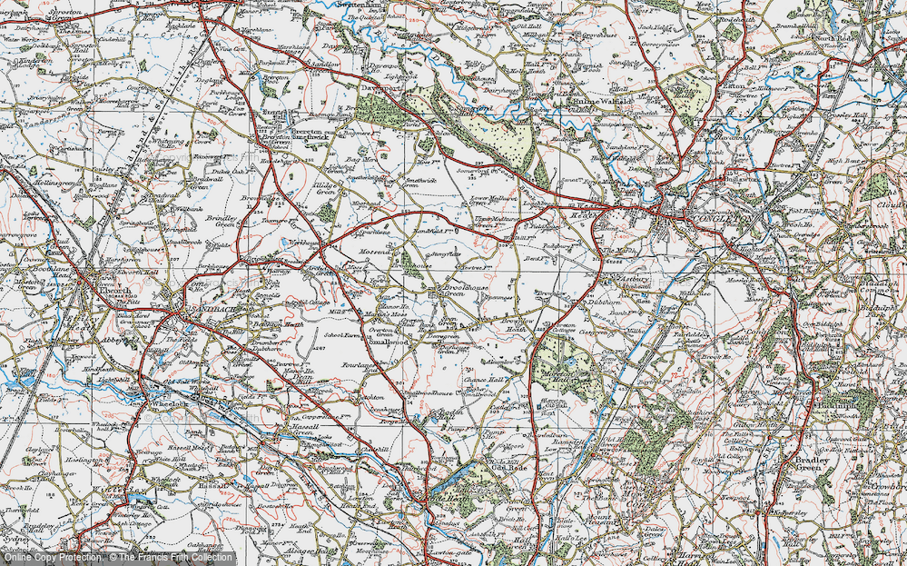 Old Map of Brookhouse Green, 1923 in 1923