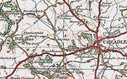 Old map of Adderley in 1921