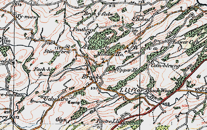 Old map of Brooks in 1921