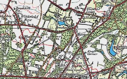 Old map of Brookside in 1920