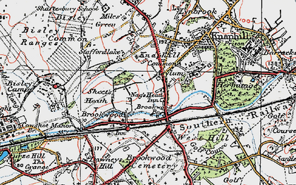 Old map of Brookwood in 1920