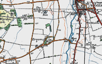 Old map of Broom in 1919
