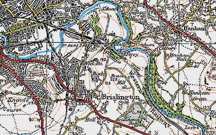 Old map of Broom Hill in 1919