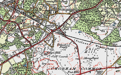 Old map of Broomhall in 1920