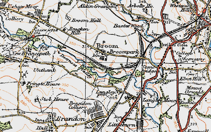 Old map of Aldin Grange in 1925