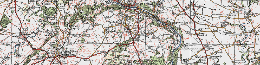Old map of Broseley in 1921