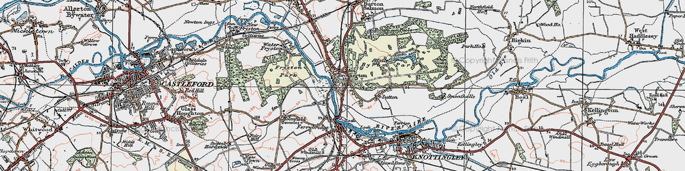 Old map of Brotherton in 1925