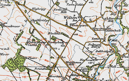 Old map of Thwaites in 1925
