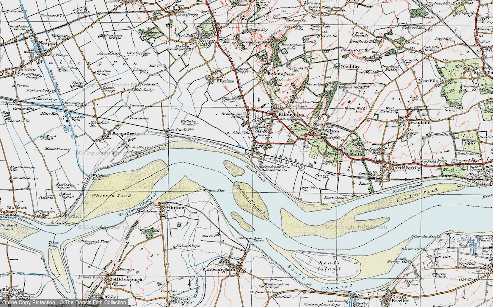 Old Map of Brough, 1924 in 1924