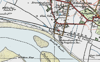 Old map of Brough in 1924