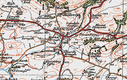 Old map of Augill Ho in 1925