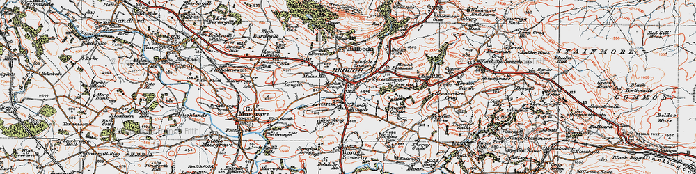 Old map of Brough in 1925