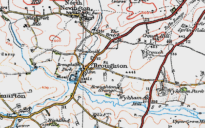 Old map of Wykham Mill in 1919