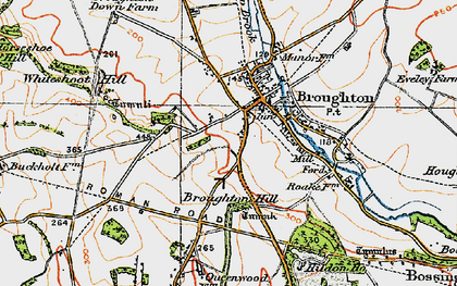 Old map of Whiteshoot Hill in 1919
