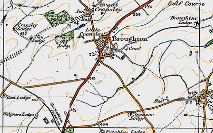 Old map of Broughton in 1920