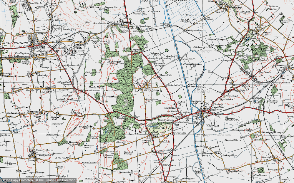 Old Map of Broughton, 1923 in 1923