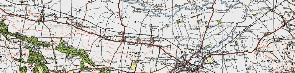 Old map of Broughton in 1924